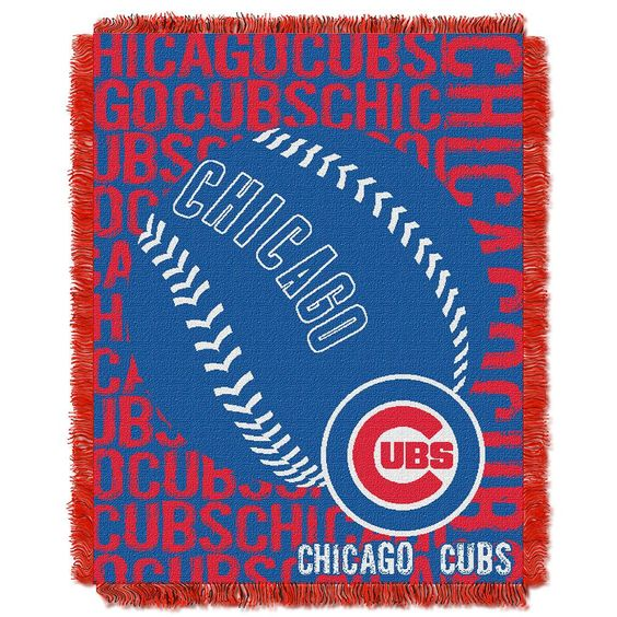 Chicago Cubs MLB Triple Woven Jacquard Throw (Double Play) (48x60)