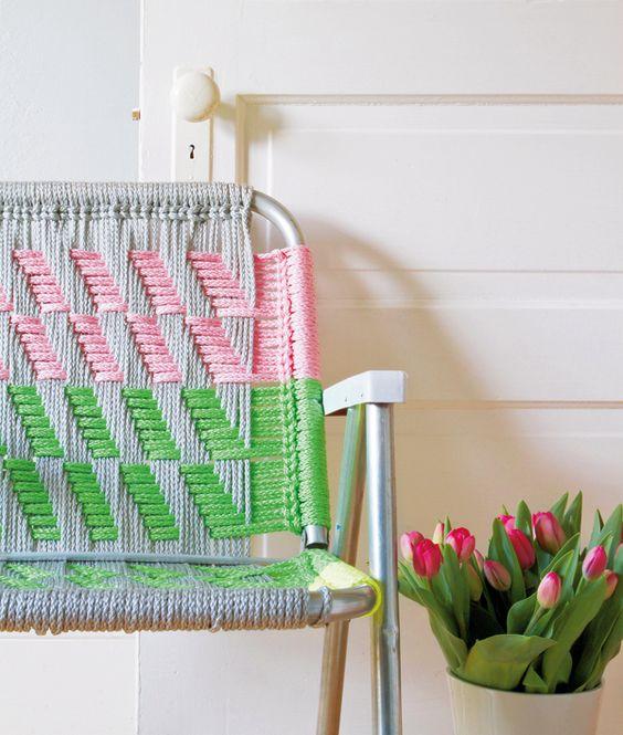 Macrame chair tutorial http://www.molliemakes.com/interiors-2/video-make-macrame-chair/