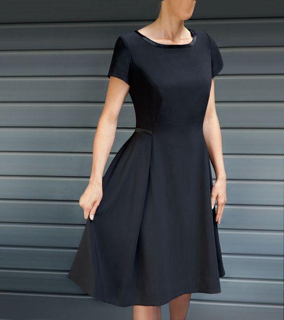 Kleines Schwarzes Kleid nähen - entworfen von Guido Maria Kretschmer - Größe: 34, 36, 38, 40, 42, 44