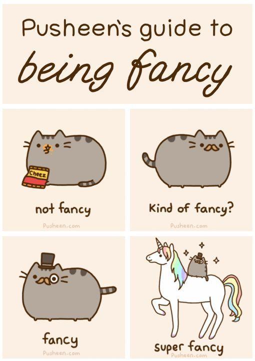 Fancy shirt: Fancy Huh, Pusheen S Guide, Pusheen Cat, Fancy Cat, Fancy Pants, Fancy Pusheen, Super Fancy, Unicorns, Funny Unicorn