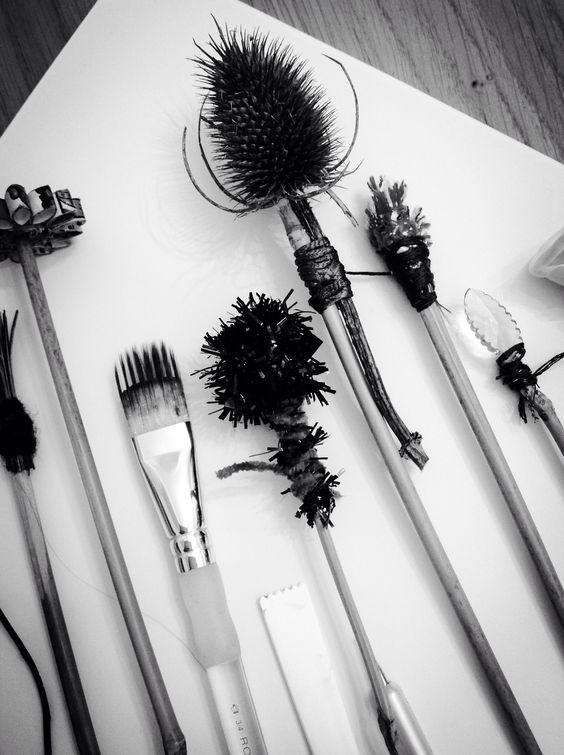 Homemade mark making tools Workshop by ARTPAD www.artpadcolne.co.uk