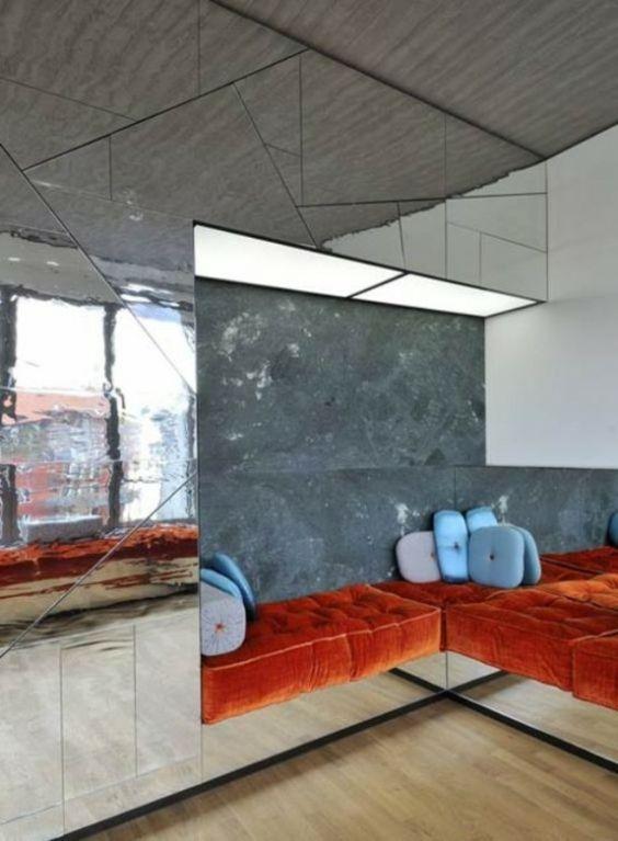 loft apartment in new york bücherregal