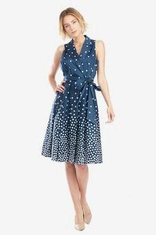 Polka Dot Shirt Dress by Anne Klein