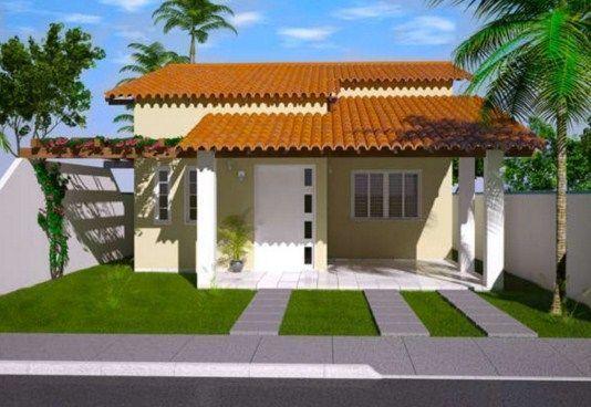 Fachadas De Casas De Una Planta Con Tejas Coloniales Casasdecampocoloniales Pergola Facade House Architecture