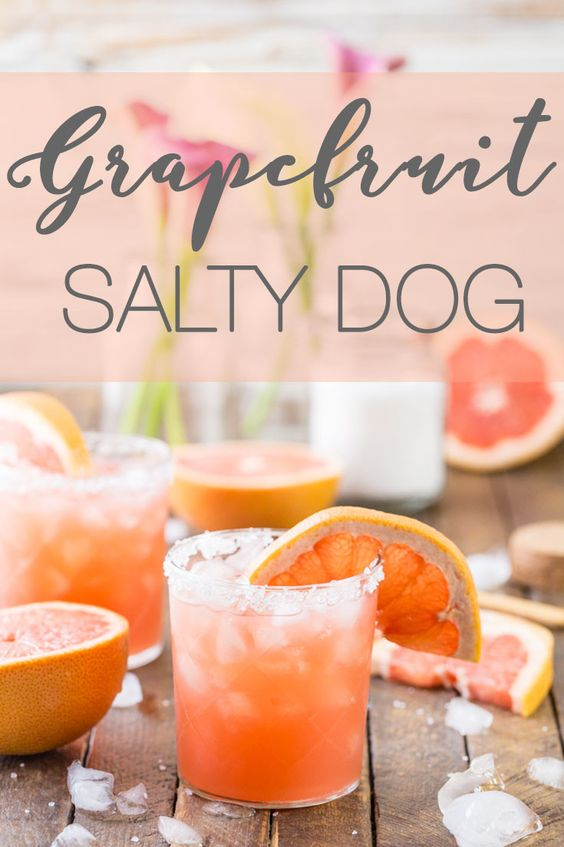 The Salty Dog is one of the best vodka drinks out there! It's the perfect summer cocktail and you have to try it.