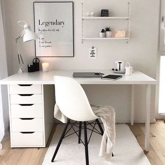 Workplace Design Home Office Ideas Small Desk Ideas Chic Home Office Ideas Small Home Office Ideas White Office Decor Study Room Decor Room Ideas Bedroom