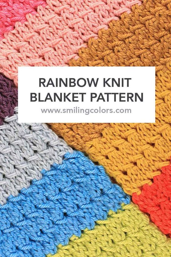 Knitting Pattern For Rainbow Blanket : Pinterest   The world s catalog of ideas