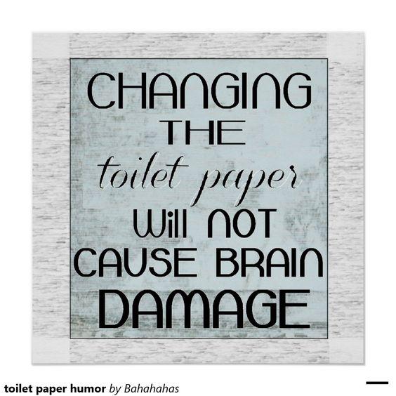 humor do papel higiénico poster