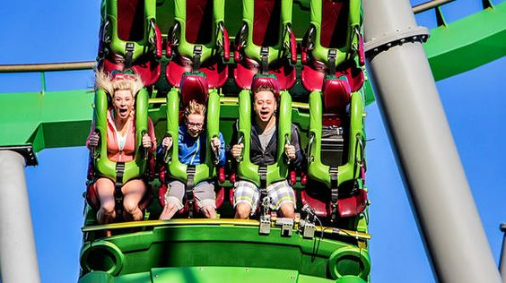 Florida-  the Incredible Hulk roller coaster