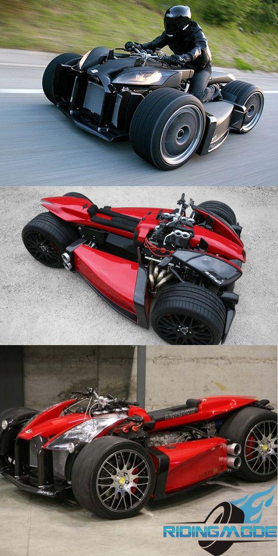 Lazareth Wazuma V8f Quad Bike Powered By Ferrari V8 Quad Bike