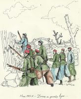 French Zouaves before assault - 1915 WW1 by Stcyr74