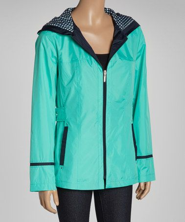 Look at this #zulilyfind! Caribbean & Navy Windbreaker Jacket - Women by Fleet Street #zulilyfinds