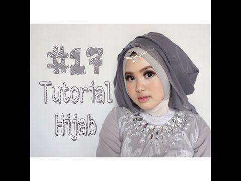 Tutorial Hijab Segi Empat Kombinasi Dua Warna Simple Kursus