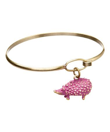 Another great find on #zulily! Mulberry Hedgehog Charm Bangle Bracelet #zulilyfinds
