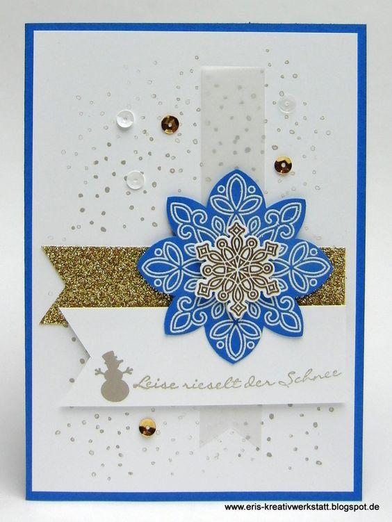 """""""Kling, Glöckchen"""" meets """"#Flockenzauber""""   http://eris-kreativwerkstatt.blogspot.de/2015/12/kling-glockchen-meets-flockenzauber.html  #stampinup #weihnachtskarte #weihnachten #xmas #christmas #teamstampingart #snowflake #karte"""