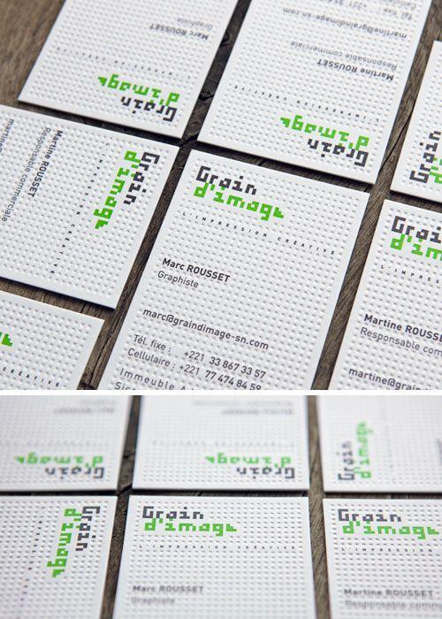 Cartes De Visite Pour L Atelier Grain D Image A Dakar Impression