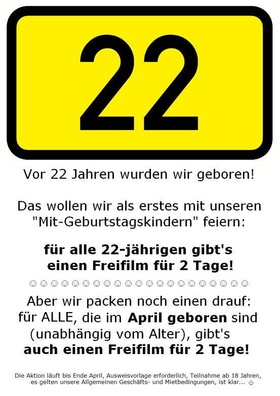 22 Jahre VCP! Unsere 1. Aktion! ★★★★★★★★★★★★★★★★★★★★★★★★★  #22Jahre #Jubilaeum #Aktion #Angebot #VideoCollection #VCP #VideothekPdm #Videothek #Potsdam
