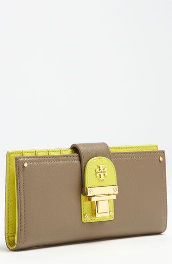 Tori Burch wallet that screams spring
