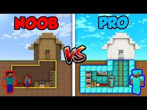 Minecraft Noob Vs Pro Secret House Base Avm Shorts Animation Youtube Secret House Noob Minecraft