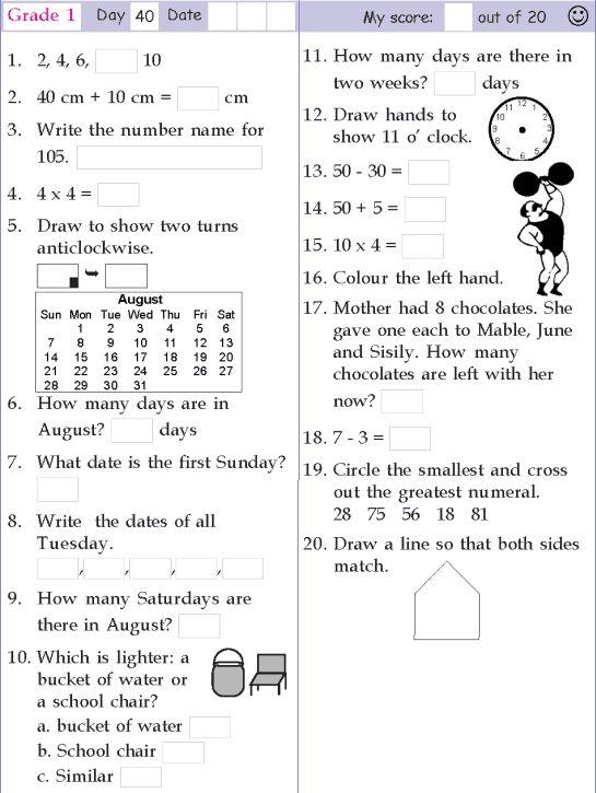 Mental Maths Worksheets 1st In 2020 Mental Maths Worksheets 1st