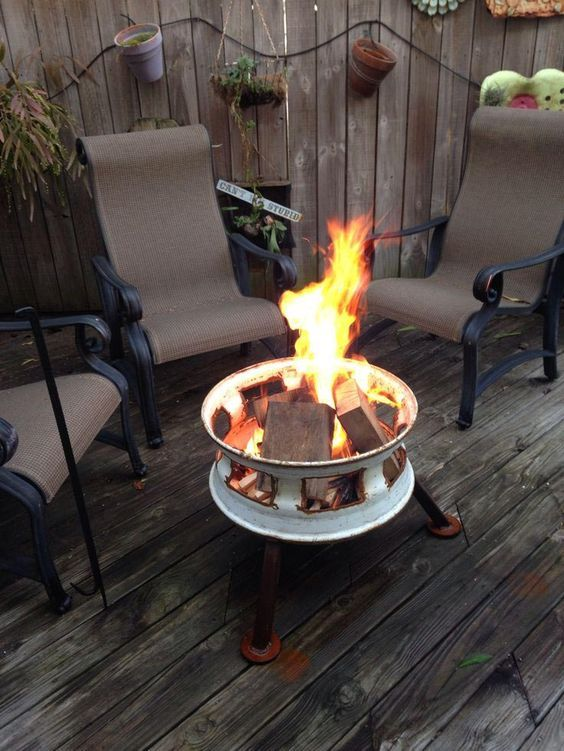 13 Diy Propane Fire Pit To Build For Your Backyard Or Patio Home And Gardening Ideas Rim Fire Pit Fire Pit Fire Pit Designs
