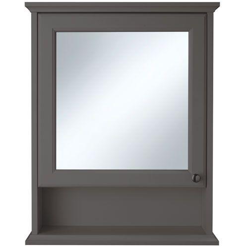 Savoy Charcoal Grey Cabinet - Bathstore.com
