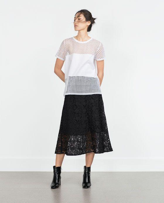 Afbeelding 1 van DEVORÉ T-SHIRT van Zara