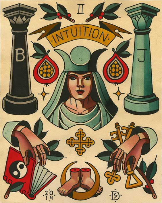 '2-THE HIGH PRIESTESS (INTUITION)' BY SEBASTIAN DOMASCHKE