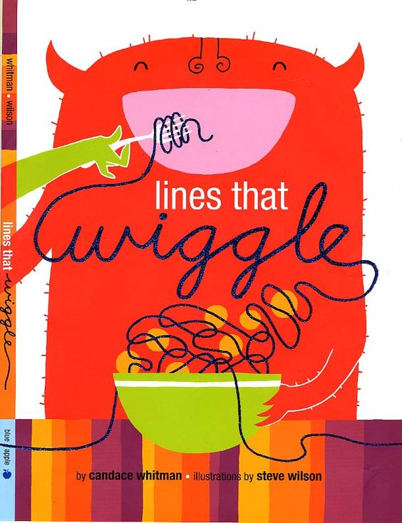 """this is a great book for an art project, especially the way she did it, starting with The Dot and then the dot """"goes for a walk"""" and becomes a line"""