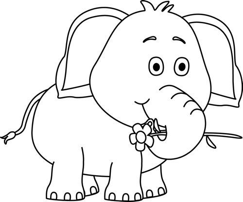 Animals Clip Art Black And White Png And Cute Images Download Free Share Submit Social Network Cute Elephant Drawing Elephant Images Elephant Drawing