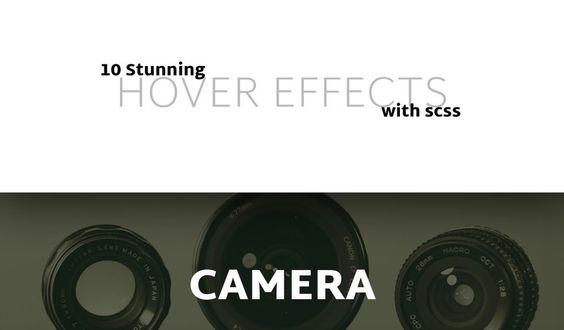 10 super hover effet avec scss