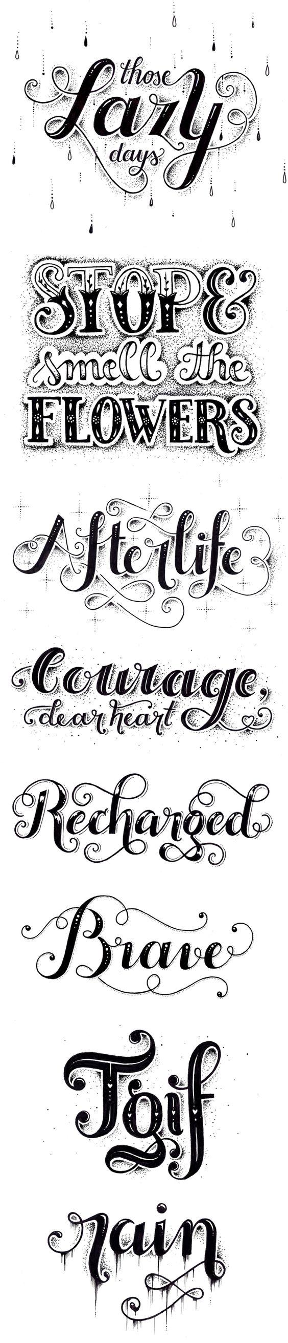 Nina Stajner | https://www.behance.net/gallery/16648327/-My-letterings-