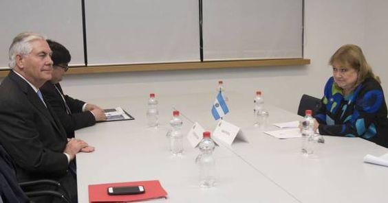 Argentina – EEUU: Malcorra se reunió hoy con Rex Tillerson