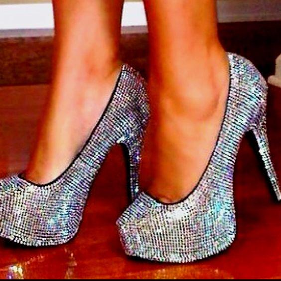 Sparkly heels(:
