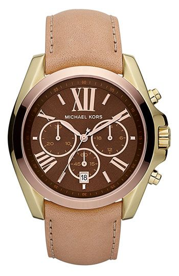 AHHH!!!! Just found this... Michael Kors 'Bradshaw'  tri-color Leather Strap Watch available at  #Nordstrom