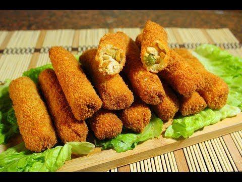 رولات التوست بالدجاج المقرمشة لذيذة جدا وسهلةوسريعة Youtube Cooking Recipes Croquettes Recipes