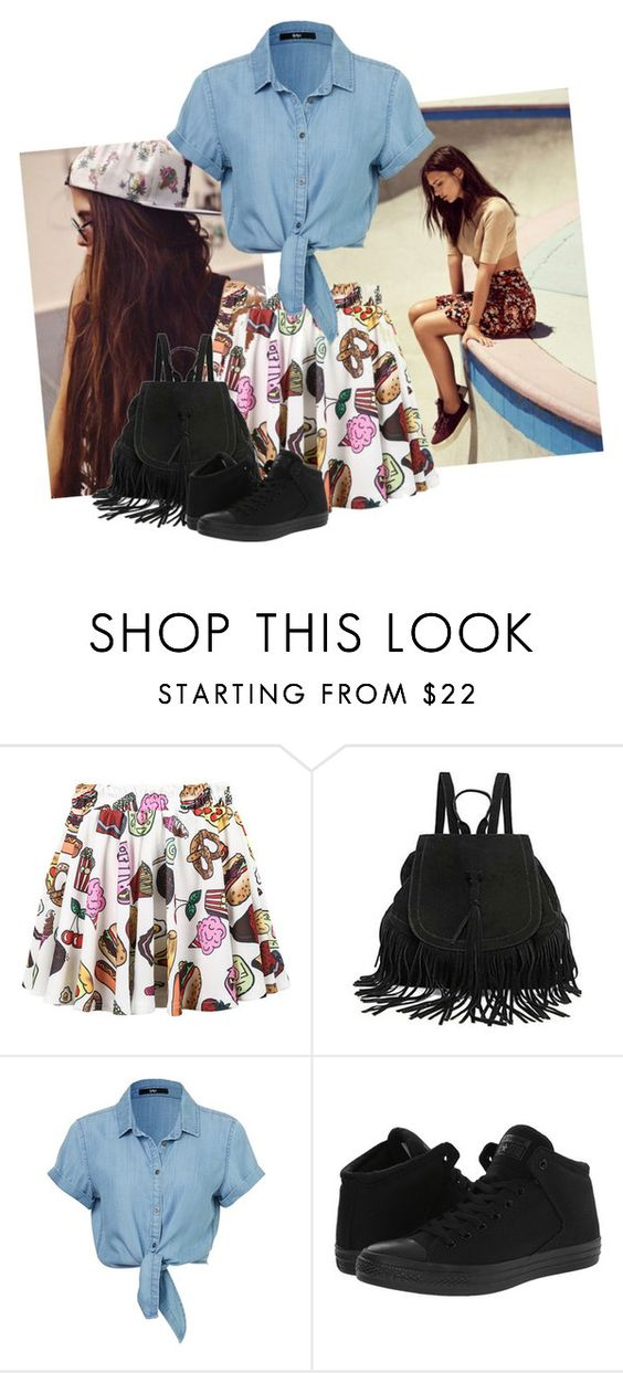 """""""Skater Chick ;)"""" by lstarkphoto ❤ liked on Polyvore featuring The Code, Converse and skaterSkirts"""