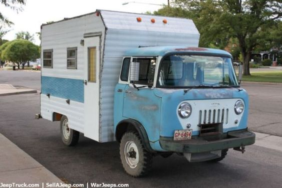 willys fc 170 1960 willys fc 170 with camper jeep willy 39 s pinterest for sale campers. Black Bedroom Furniture Sets. Home Design Ideas