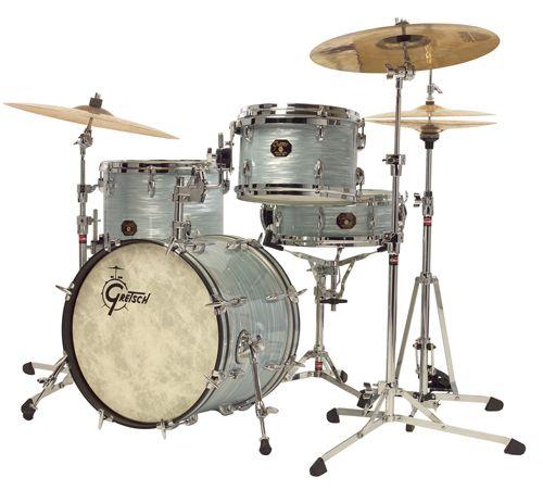 Vintage Oyster White Gretsch Drums