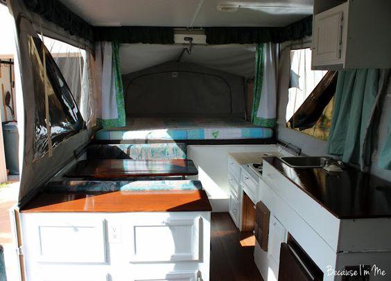 Pop Up Tent Camper Remodel Wip Counters Floors