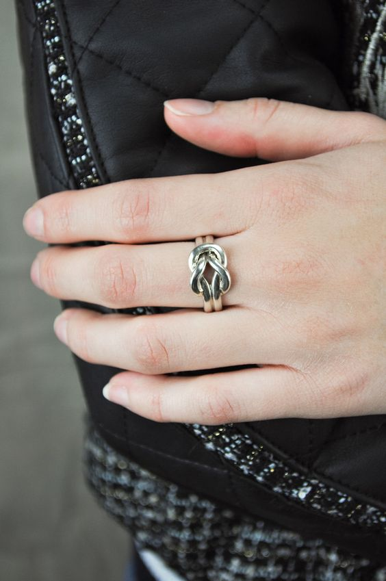 Vintage Sailor's Knot Ring by Mimi and Dottie   JONDIE