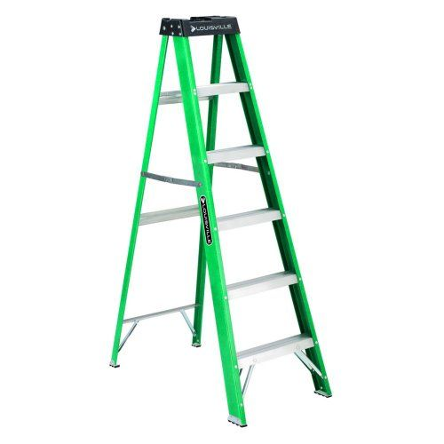 Louisville Ladder 300 Pound Duty Rating Fiberglass Ladder Ladder