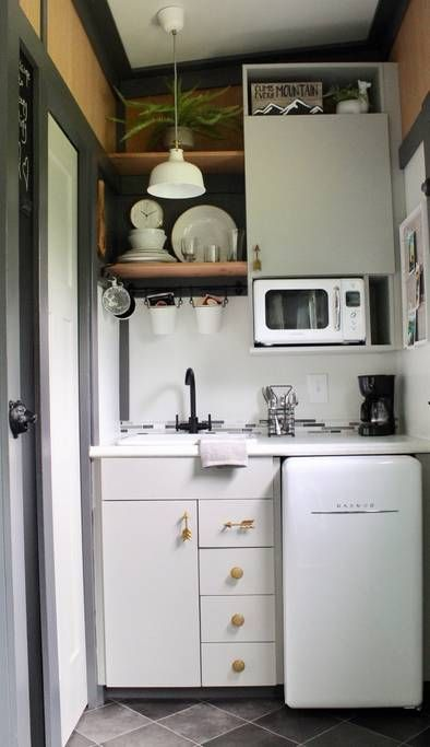 Backyard Bunkies Mini Tiny Modern Cabin Tiny Houses For Rent In Marion Tiny Kitchen Design Tiny House Kitchen Kitchen Design Small