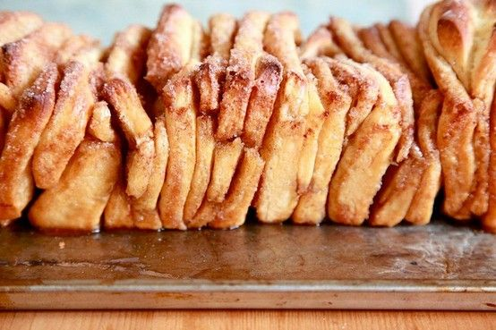 cinnamon sugar pull-apart bread #cinnamon baking