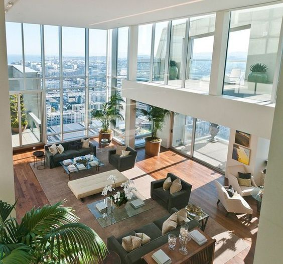 Sumptuous St. Regis Penthouse in San Francisco by interior design firm Orlando Diaz-Azcuy Design Associates