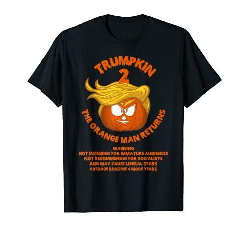 Halloween 2020 Runtime Trumpkin 2 Orange Man Returns Funny Pro Trump Halloween T Shirt
