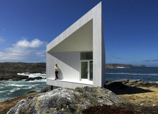 Squish Studio is a Tiny Minimalist Home That Sits Lightly on Canada's Fogo Island