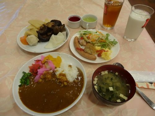 Example of buffet breakfast from a budget Japanese hotel, lots of variety!