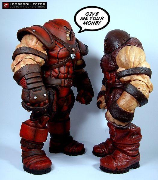 Image Result For Marvel Select Juggernaut Vs Thanos Custom