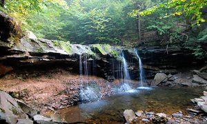 One of the waterfalls at Ricketts Glen state park, Pennsylvania